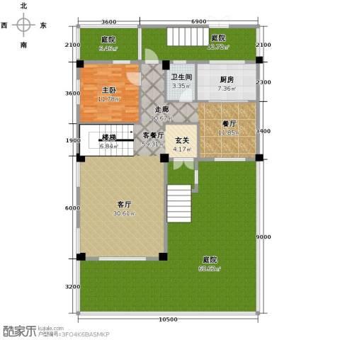 联发滨海琴墅1室2厅1卫0厨220.00㎡户型图