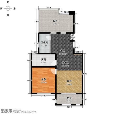 景瑞英郡泊墅湾1室2厅1卫0厨108.00㎡户型图