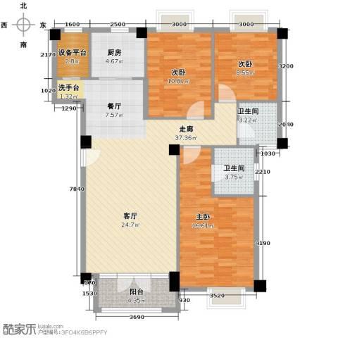 联发滨海琴墅3室2厅2卫0厨118.00㎡户型图