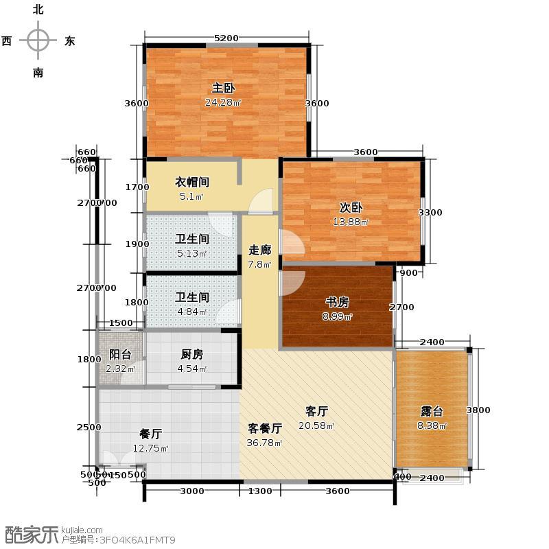 龙城国际117.00㎡二期9号楼B2偶数层户型10室