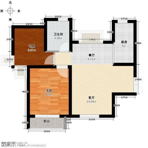 爱尚公寓2室2厅1卫0厨95.00㎡户型图