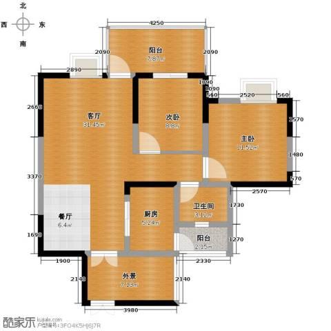 红树湾2室2厅1卫0厨85.00㎡户型图