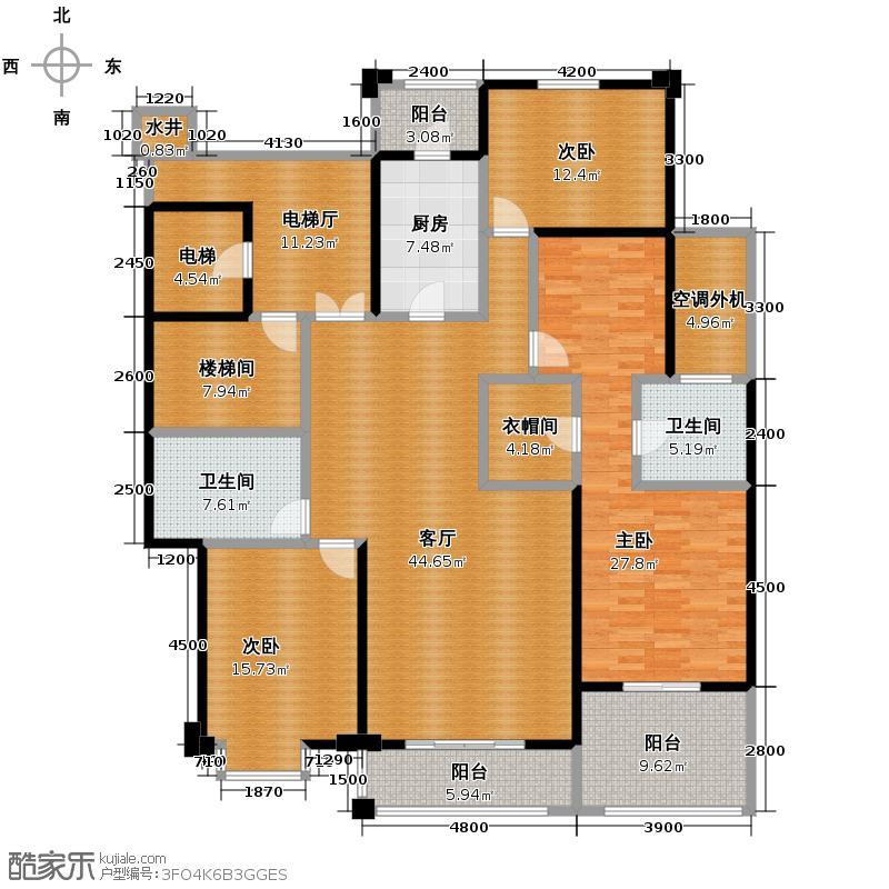锦绣世纪177.49㎡B7号栋户型10室