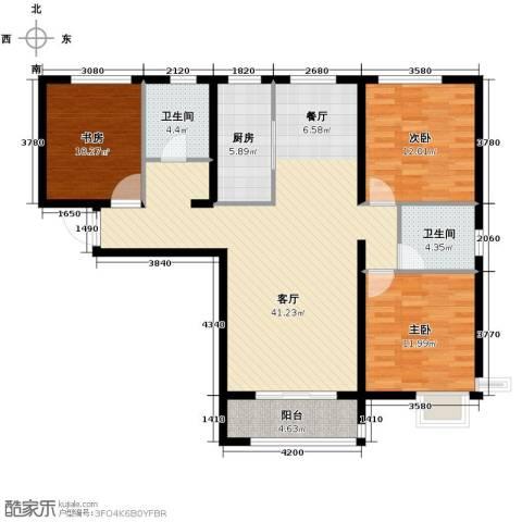 瞰海轩3室2厅2卫0厨138.00㎡户型图
