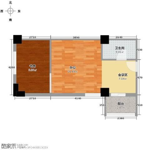 环球时代1室0厅1卫0厨53.00㎡户型图