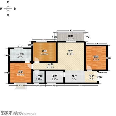 上林沣苑3室2厅2卫0厨120.00㎡户型图