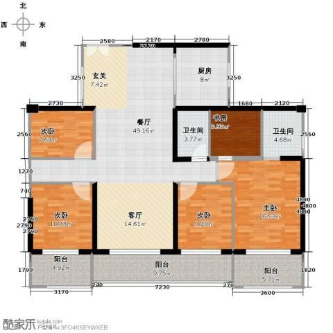金亨利都荟首府5室2厅2卫0厨135.72㎡户型图