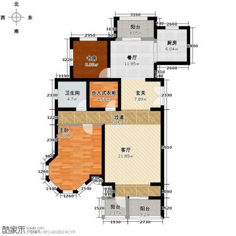 领秀・翡翠山2室2厅1卫0厨137.00㎡户型图