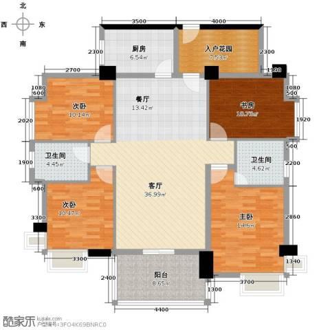 景湖春晓4室1厅2卫1厨162.00㎡户型图