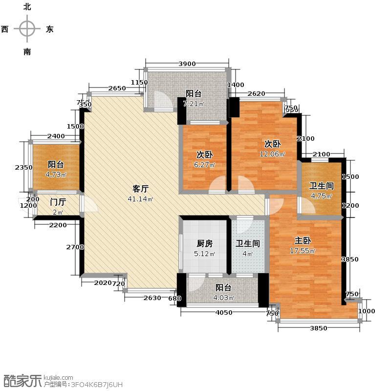 华凯逸悦豪庭132.89㎡18号楼05户型3室2厅2卫
