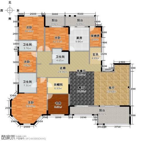 金地华公馆6室2厅3卫0厨235.00㎡户型图
