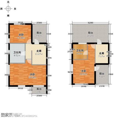 龙顺御墅3室2厅2卫0厨240.00㎡户型图