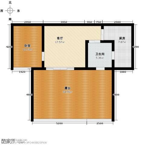 华仁凤凰城1室2厅1卫0厨76.28㎡户型图