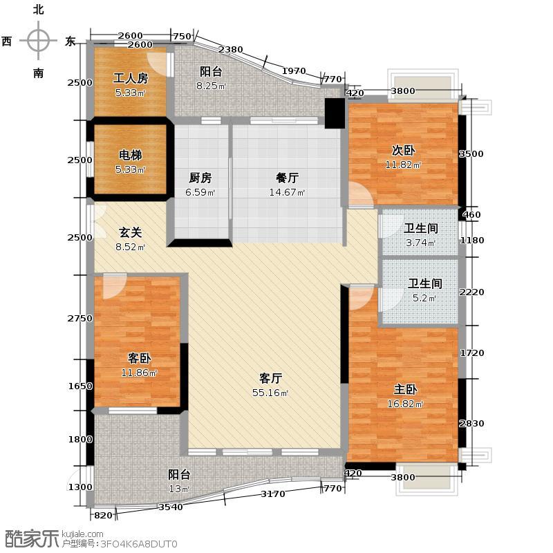 尚东美御179.06㎡E-02(5-26层)大户型3室1厅2卫1厨