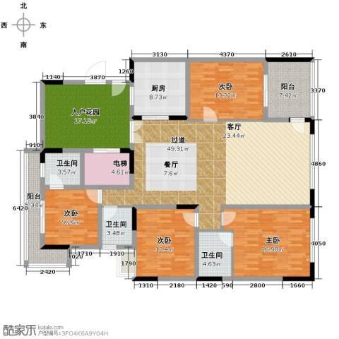 大学城馨园4室0厅3卫1厨177.00㎡户型图