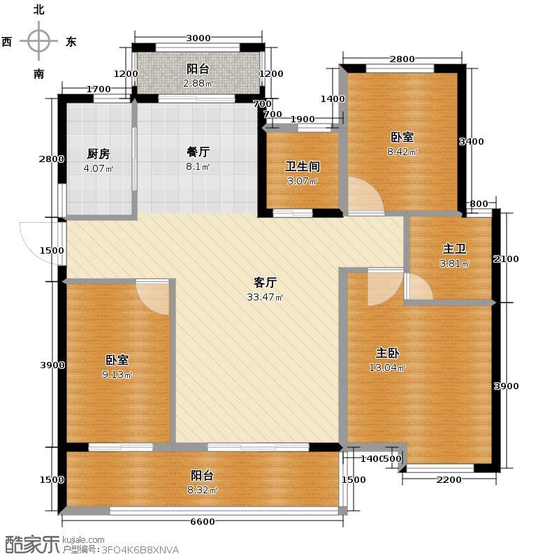 乾城119.91㎡户型3室2厅2卫