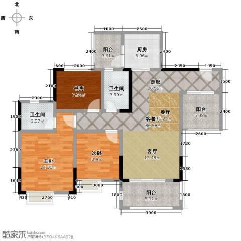 锦天梦湖山庄3室2厅2卫0厨112.00㎡户型图