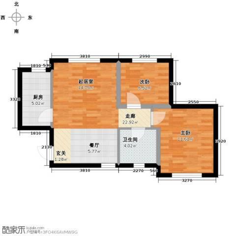 美震瑞景时代2室2厅1卫0厨71.00㎡户型图