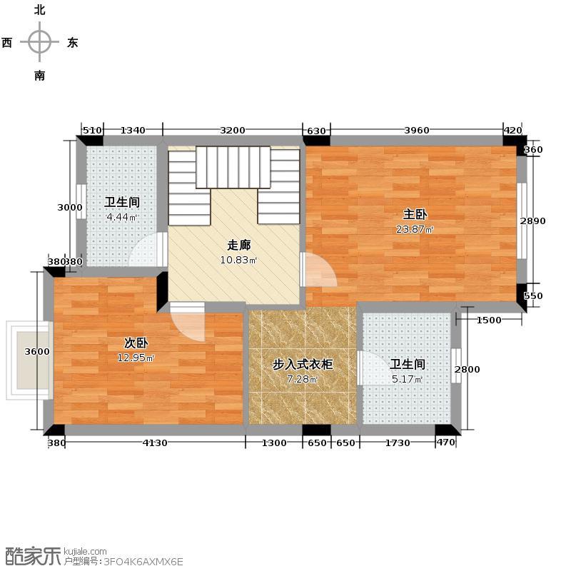 莱茵水岸65.77㎡B型别墅二层户型10室