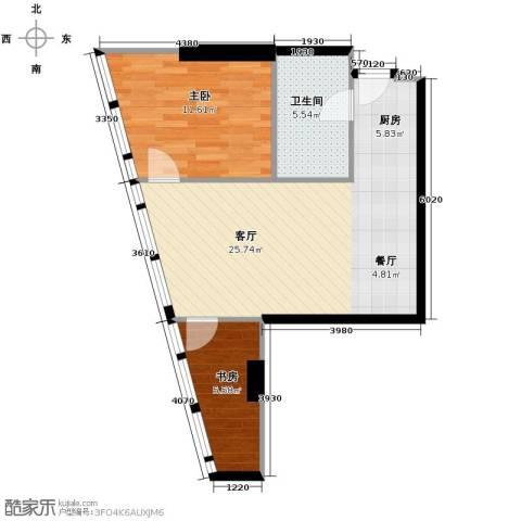 深圳湾2室2厅1卫0厨92.00㎡户型图