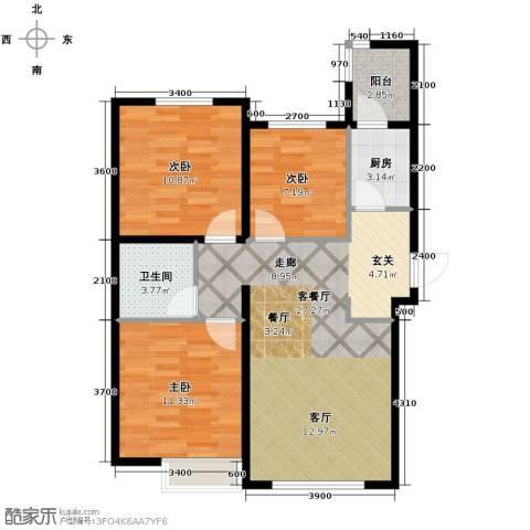 弘泽鉴筑3室2厅1卫0厨105.00㎡户型图