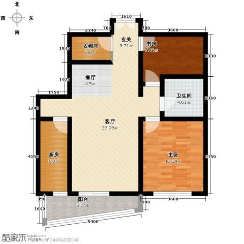 华远九都汇2室1厅1卫1厨105.00㎡户型图