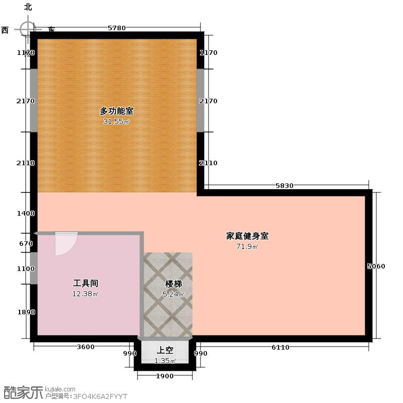 联发滨海琴墅92.17㎡别墅D1地下室户型1室2厅