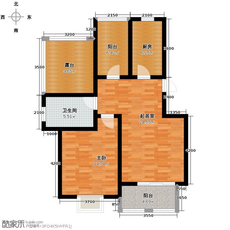 大地十二城73.28㎡10号楼六层户型10室
