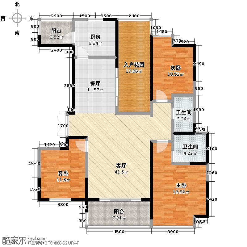 金地湖城大境134.26㎡天字一号21号楼西单元B户型10室