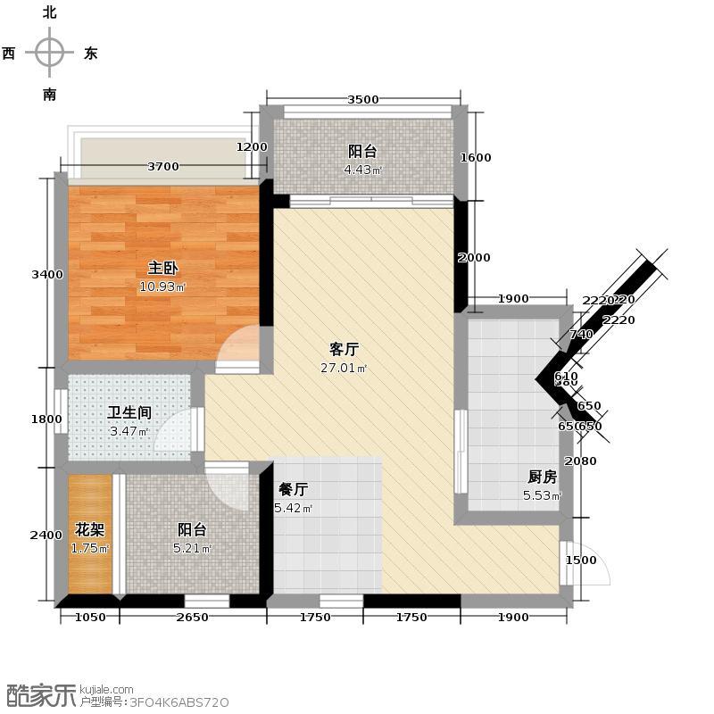 天昌东盟中央城137.90㎡A3栋01户型4室2厅2卫
