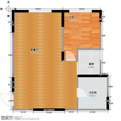 智造创想城1室2厅1卫0厨74.00㎡户型图