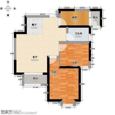 星河荣御2室2厅1卫0厨78.00㎡户型图