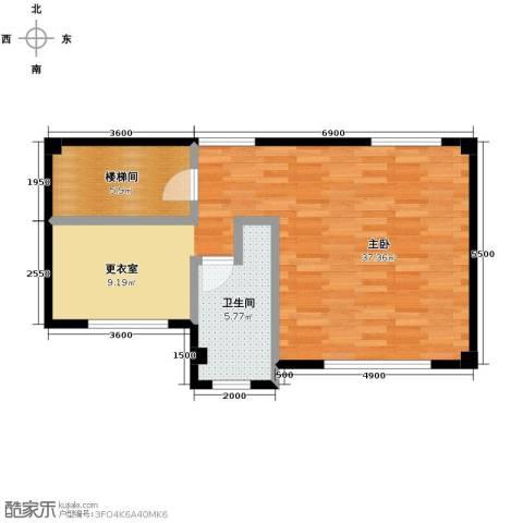联发滨海琴墅2室0厅1卫0厨59.00㎡户型图