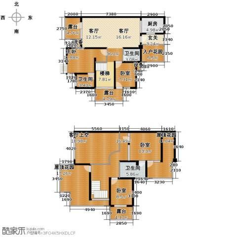城市春天1室0厅3卫1厨181.62㎡户型图