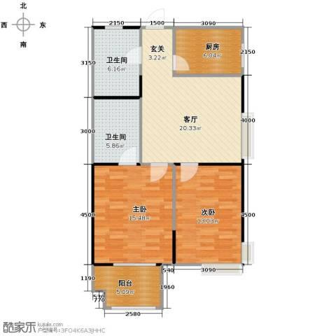五龙湾・阳光海岸2室2厅1卫0厨97.00㎡户型图