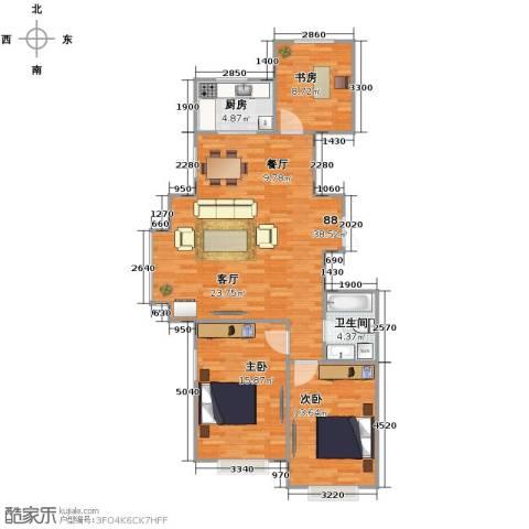 惠盛苑3室0厅1卫1厨114.00㎡户型图