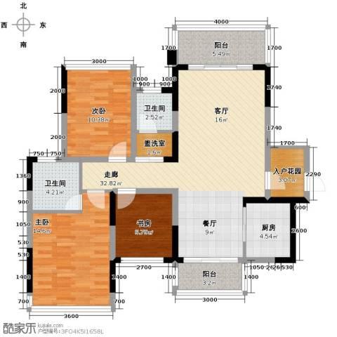 新里程潇湘名城3室2厅2卫0厨117.00㎡户型图