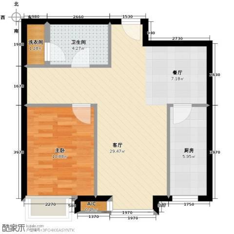 凯德锦绣1室2厅1卫0厨72.00㎡户型图