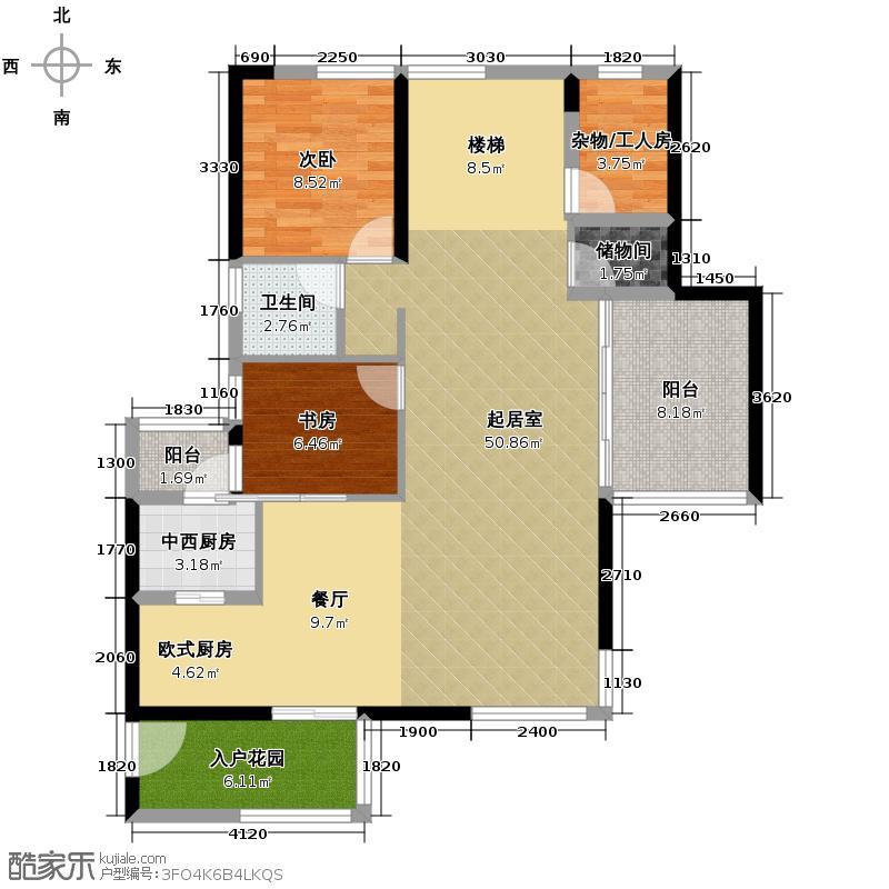 长江楚韵227.00㎡联排T2A复式户型3室2厅1卫