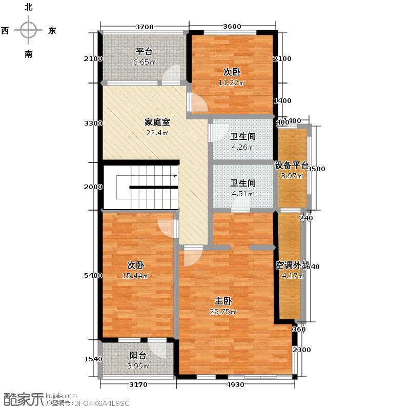 世佳别墅116.85㎡408号楼上叠11上层平面图户型10室