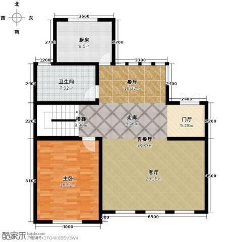 海川园1室1厅2卫0厨127.00㎡户型图