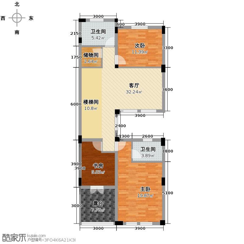 鲁商云山原筑104.22㎡D型二层平面图户型10室