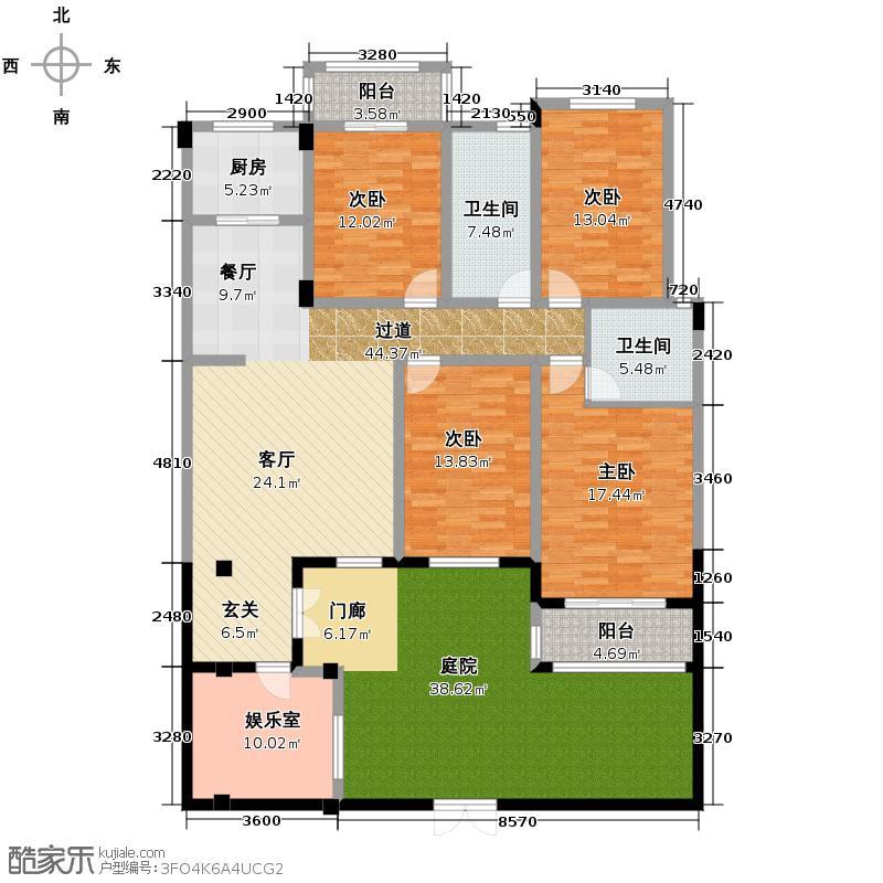 香缇溪岸165.03㎡8栋楼1层A2户型4室2厅2卫