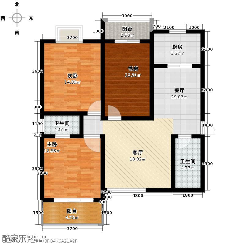 世融嘉城128.61㎡20号楼B户型3室2厅2卫