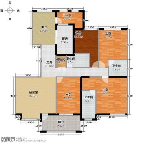香格里4室2厅3卫0厨167.51㎡户型图