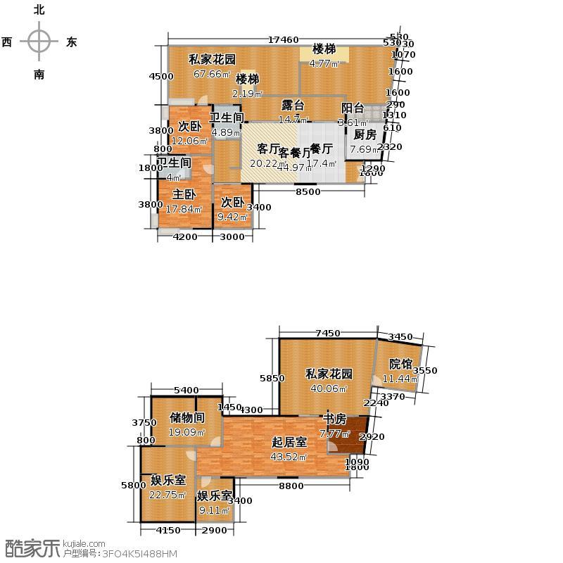 东山国际新城243.61㎡A型一楼户型10室