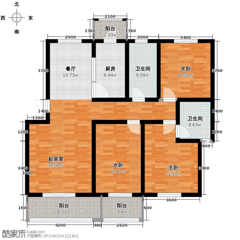 华城公邸120.00㎡A10户型10室