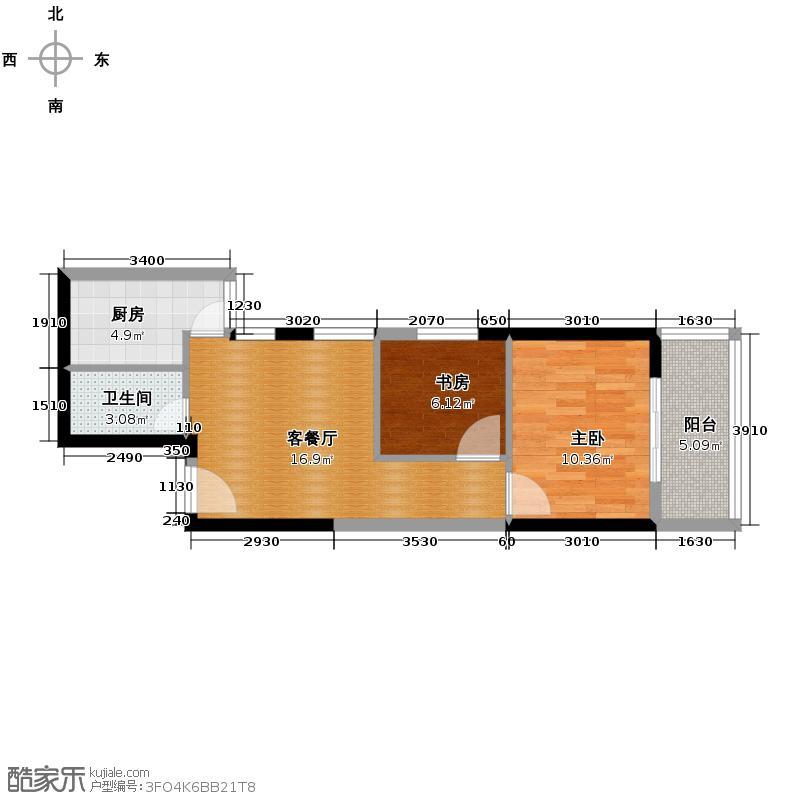 天伦御城龙脉64.86㎡3-03简约紧凑自由分割空间变户型10室