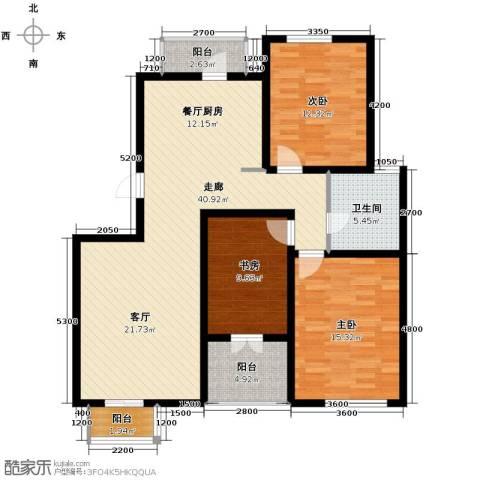 弘泽天泽3室2厅1卫0厨119.00㎡户型图