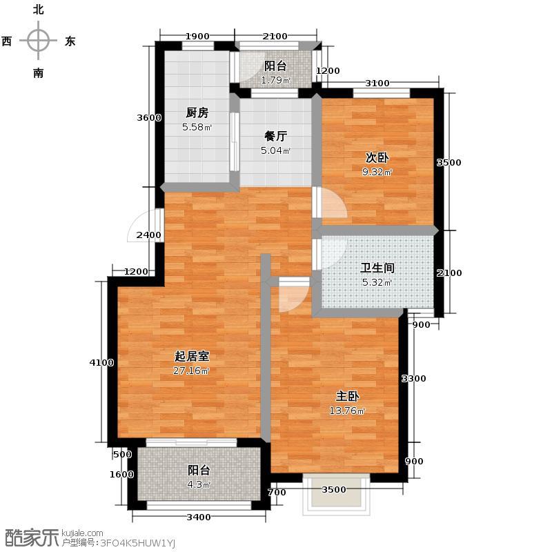 大地十二城87.70㎡18-23-25号楼(错层)户型10室